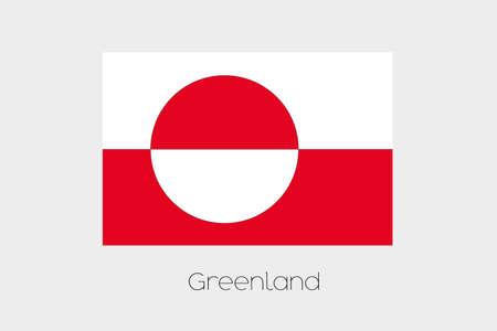 greenland: An Inverted Flag of  Greenland Stock Photo