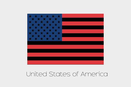 inverted: An Inverted Flag of  United States of America