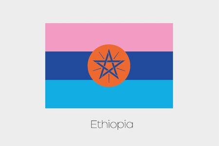 inverted: An Inverted Flag of  Ethiopia Stock Photo