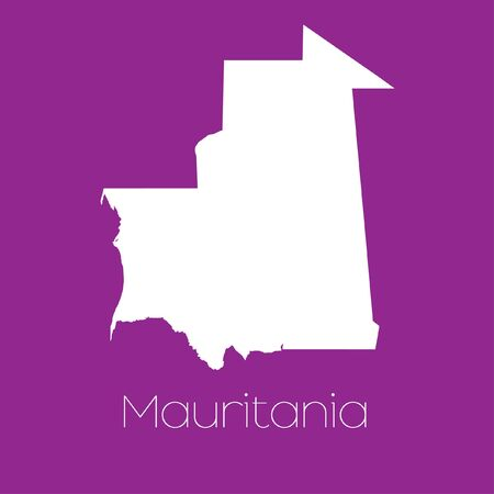 mauritania: A Map of the country of Mauritania