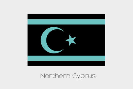 cyprus: An Inverted Flag of  Northern Cyprus Stock Photo