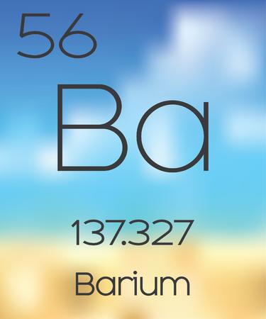 barium: The Periodic Table of the Elements Barium Stock Photo