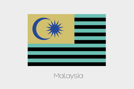 inverted: An Inverted Flag of  Malaysia Stock Photo