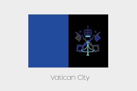 inverted: An Inverted Flag of  Vatican Stock Photo