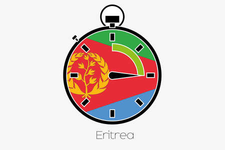 eritrea: A Stopwatch with the flag of Eritrea