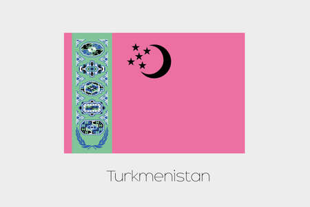 turkmenistan: An Inverted Flag of  Turkmenistan Stock Photo