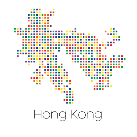 trans gender: A Map of the country of Hong Kong