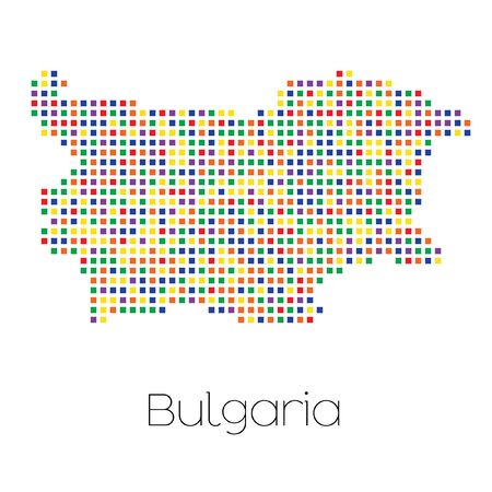 trans gender: A Map of the country of Bulgaria