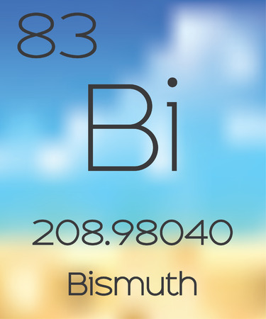 periodic table: The Periodic Table of the Elements Bismuth Stock Photo