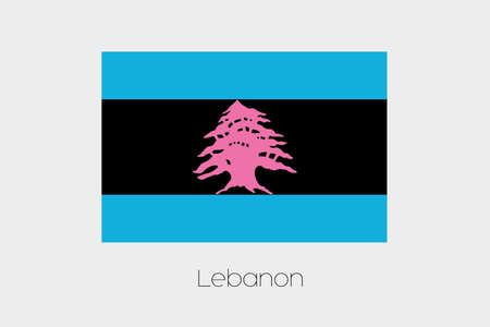 inverted: An Inverted Flag of  Lebanon