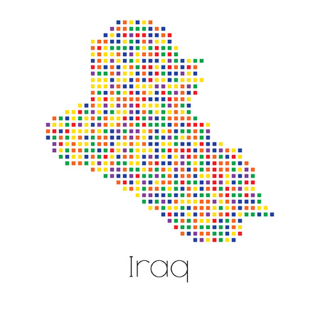 trans gender: A Map of the country of Iraq