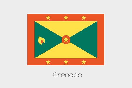 inverted: An Inverted Flag of  Grenada Stock Photo