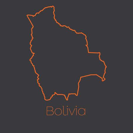mapa de bolivia: Un mapa del país de Bolivia