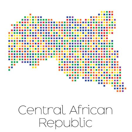 trans gender: A Map of the country of Central African Republic Stock Photo