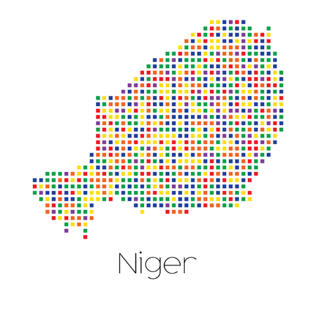 trans gender: A Map of the country of Niger