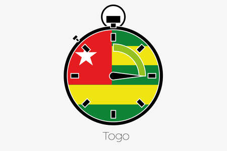 togo: A Stopwatch with the flag of Togo