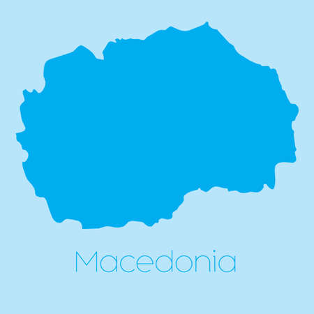 macedonia: A Map of the country of Macedonia