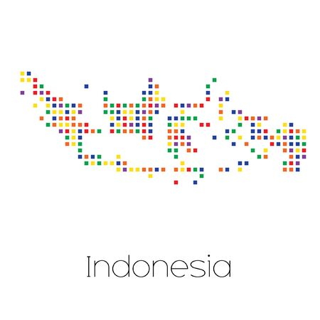 trans gender: A Map of the country of Indonesia