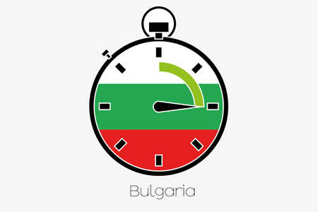 bulgaria: A Stopwatch with the flag of Bulgaria