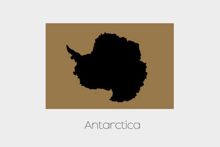 antartica: An Inverted Flag of  Antartica