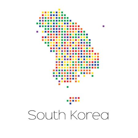 trans gender: A Map of the country of South Korea