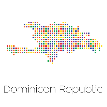 trans gender: A Map of the country of Dominican Republic