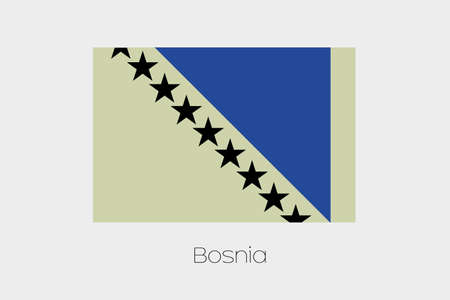inverted: An Inverted Flag of  Bosnia Stock Photo