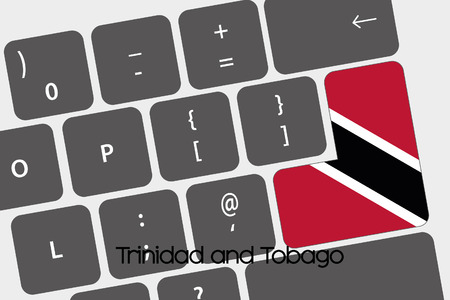 trinidad: A Illustration of a Keyboard with the Enter button being the Flag of  Trinidad and Tobago