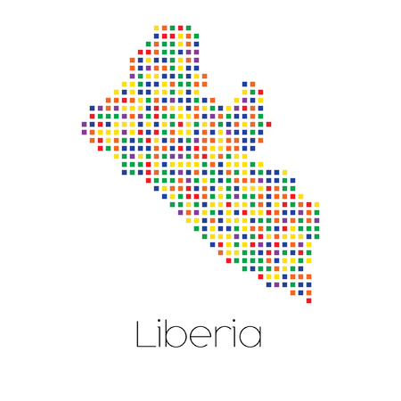 trans gender: A Map of the country of Liberia