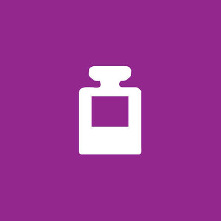 inkpot: A White Icon Isolated on a Purple Background - InkPot