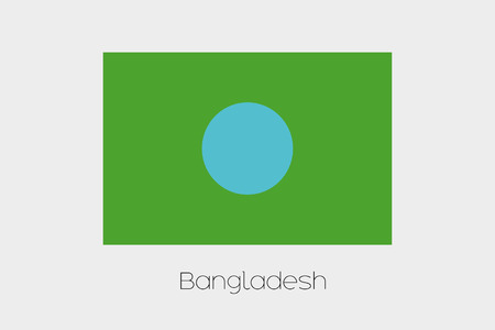 inverted: An Inverted Flag of  Bangladesh Stock Photo