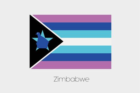 inverted: An Inverted Flag of  Zimbabwe