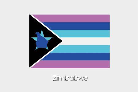 zimbabwe: An Inverted Flag of  Zimbabwe