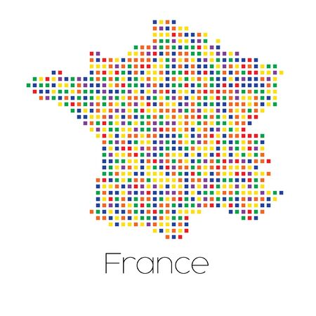 trans gender: A Map of the country of France Stock Photo