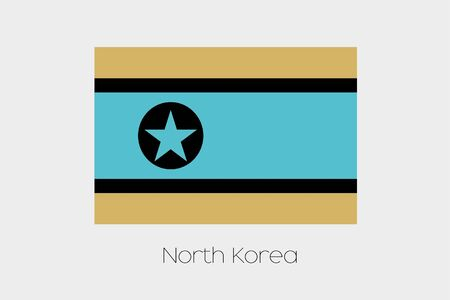 inverted: An Inverted Flag of  North Korea Stock Photo