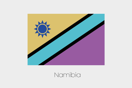 inverted: An Inverted Flag of  Namibia Stock Photo