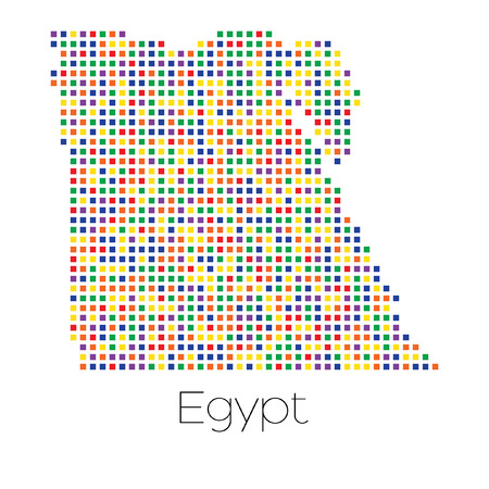 trans gender: A Map of the country of Egypt Stock Photo