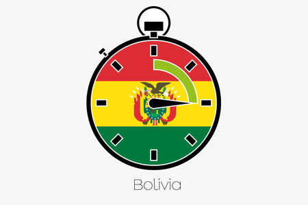 bolivia: A Stopwatch with the flag of Bolivia Stock Photo