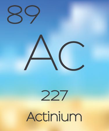 periodic table of the elements: The Periodic Table of the Elements Actinium Stock Photo