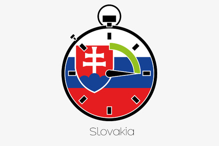 slovakia: A Stopwatch with the flag of Slovakia
