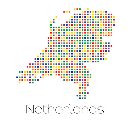 trans gender: A Map of the country of Netherlands
