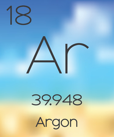 argon: The Periodic Table of the Elements Argon Stock Photo