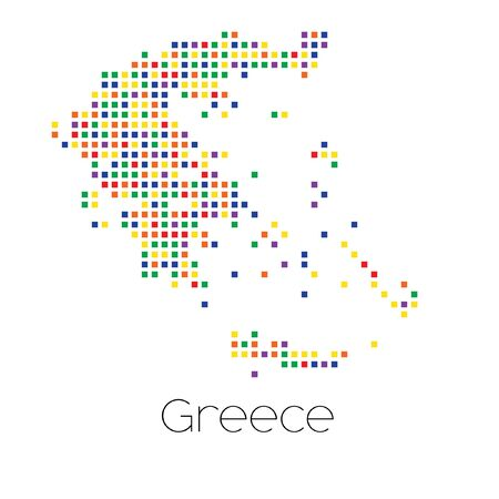 trans gender: A Map of the country of Greece