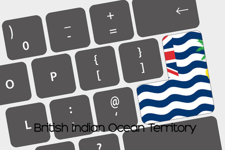 indian ocean: A Illustration of a Keyboard with the Enter button being the Flag of  British Indian Ocean Territory