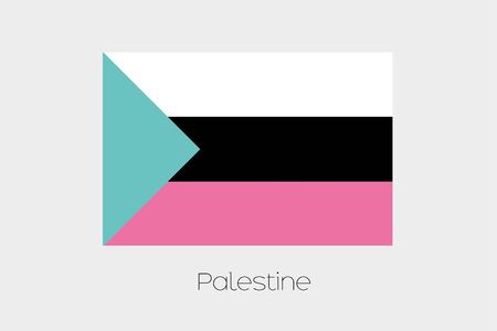 palestine: An Inverted Flag of  Palestine