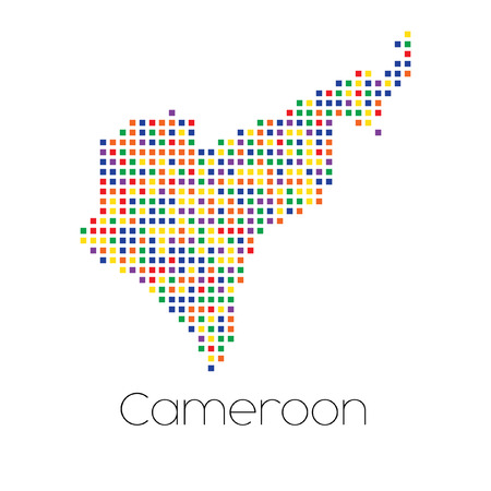 trans gender: A Map of the country of Cameroon