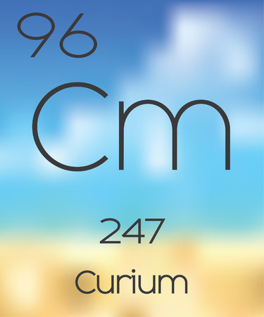 periodic table of the elements: The Periodic Table of the Elements Curium Stock Photo
