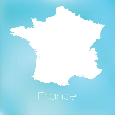 france: A Map of the country of France Stock Photo