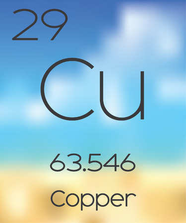 periodic table: The Periodic Table of the Elements Copper Stock Photo