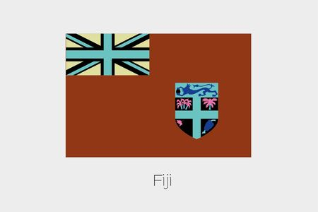 inverted: An Inverted Flag of  Fiji Stock Photo
